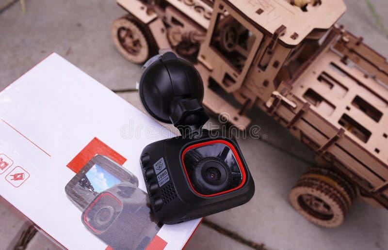 DashCam для автомобиля Пакуя устройство стоковые изображения rf