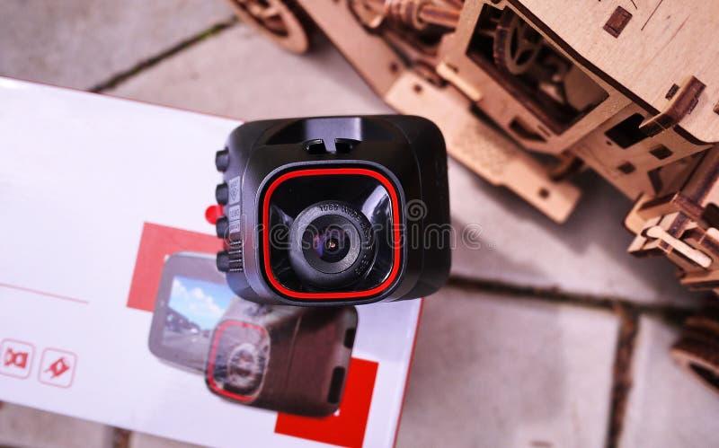 DashCam для автомобиля Пакуя устройство стоковые фото