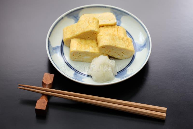 Dashimaki, japanese rolled omelet stock photo