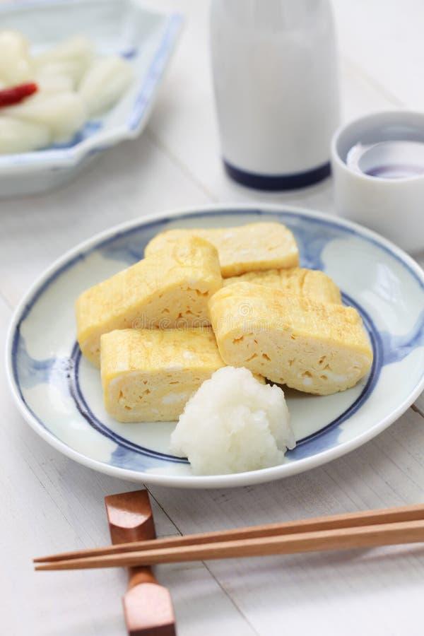 Dashimaki, japanese rolled omelet royalty free stock photography