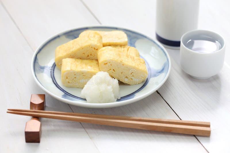 Dashimaki, japończyk staczał się omlet obrazy royalty free