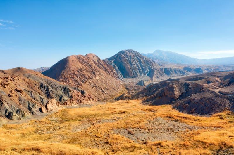 Dasht-e Lut Desert i östliga Iran som tas i Januari 2019 som tas i hdr arkivbild