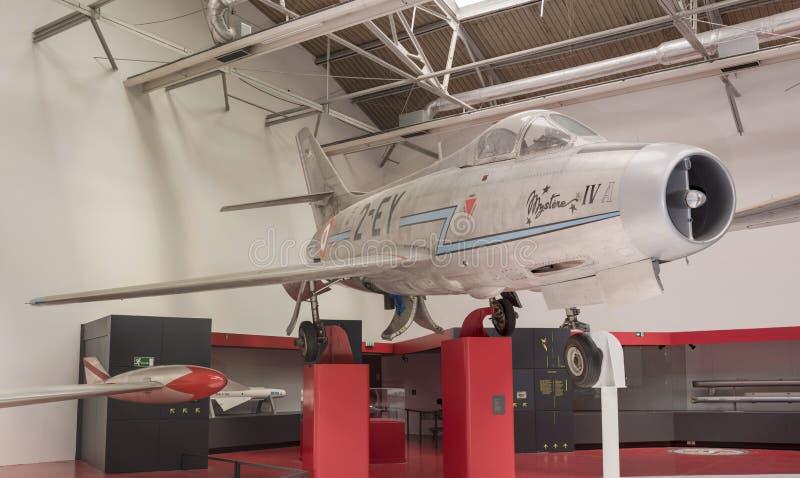 Dassault MD-454 Mystère IVA 1954 dans le musée d'astronautique photos libres de droits