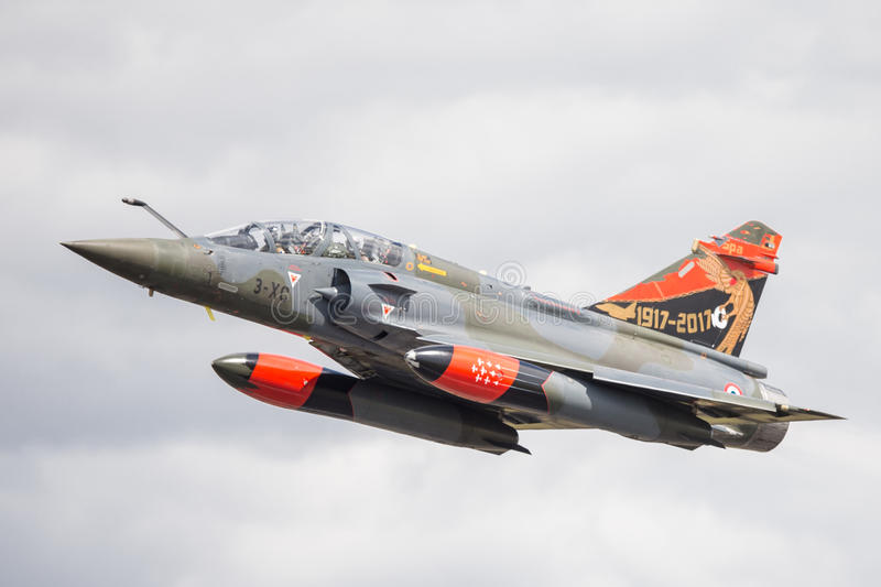 Dassault Mirage 2000N. The Dassault Mirage 2000N is a variant of the Mirage 2000 designed for nuclear strike. It forms the core of the French air-based tactical royalty free stock photos
