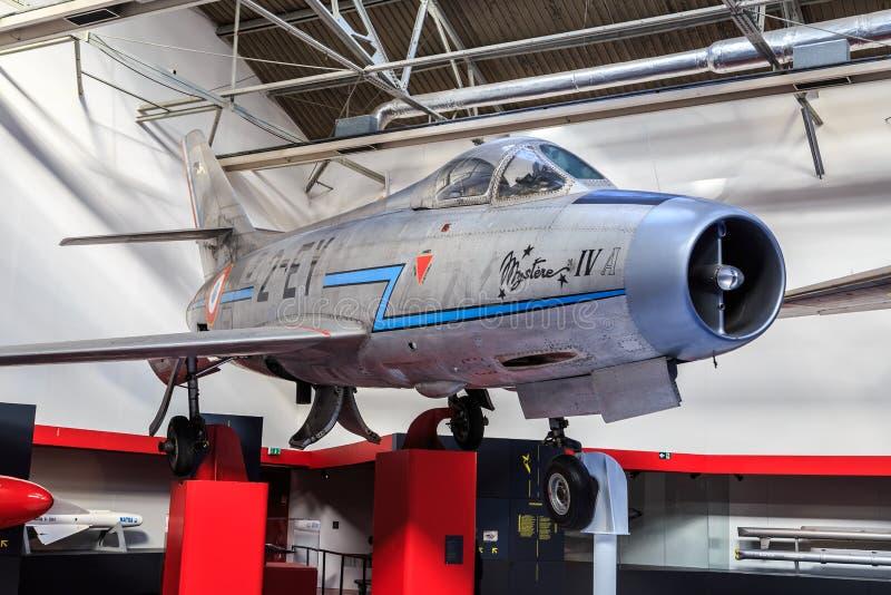Dassault Mystère IV w muzeum obrazy royalty free