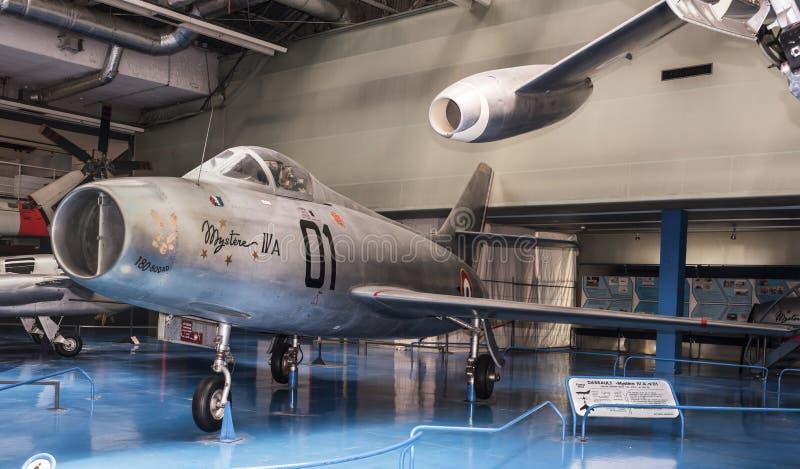 Dassault Mystere 4 A n-01- aviões do lutador-bombardeiro, o primeiro t fotografia de stock