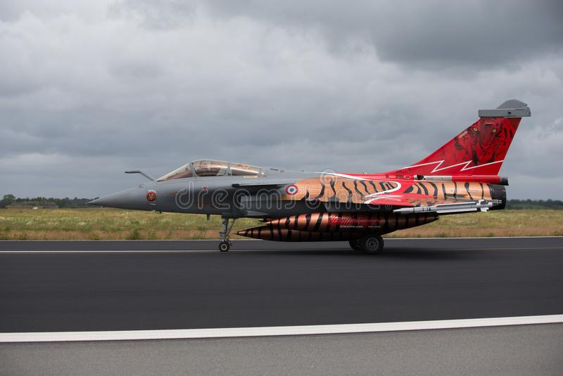 Dassault Rafale på NATO Tiger Meet 2014 royaltyfria bilder