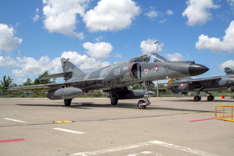 Dassault toppen Etendard för fransk marin jaktflygplan arkivfoton