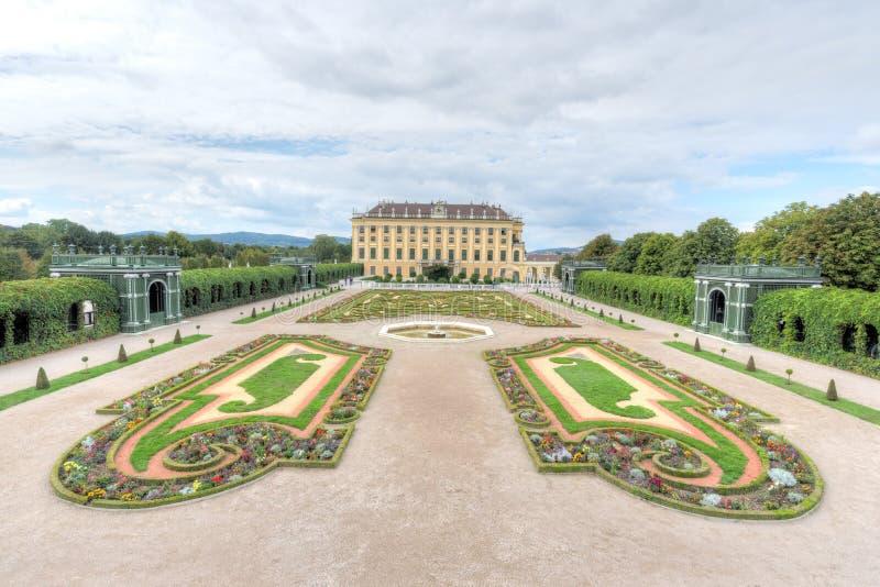 Dassträdgård, Schonbrunn slott arkivfoton