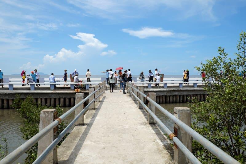 Dat Mui que viaja turístico, Ca Mau imágenes de archivo libres de regalías