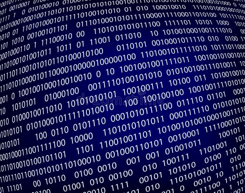 Data. Editable vector background illustration of binary code stock illustration