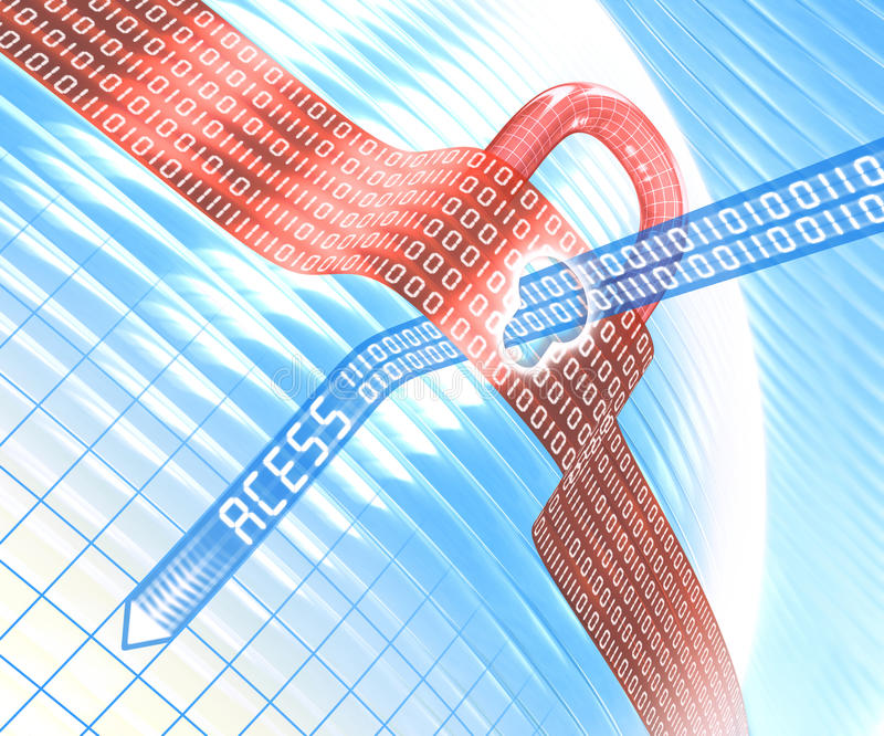 Download Data Access stock illustration. Image of lock, data, byte - 23963788