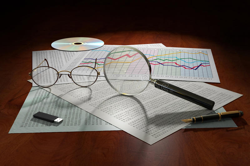 Download Data Analysis stock illustration. Image of data, numbers - 26139143