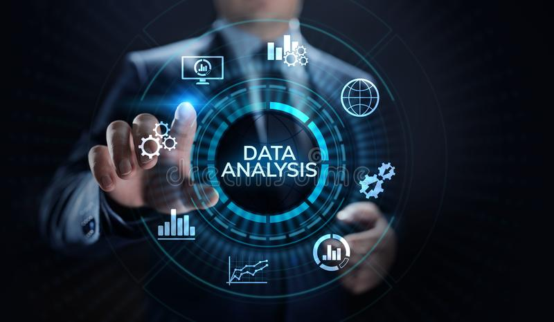 Data analysis business intelligence analytics internet technology concept. royalty free stock photos