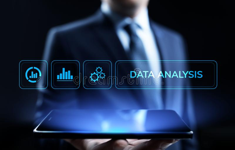 Data analysis business intelligence analytics internet technology concept. vector illustration