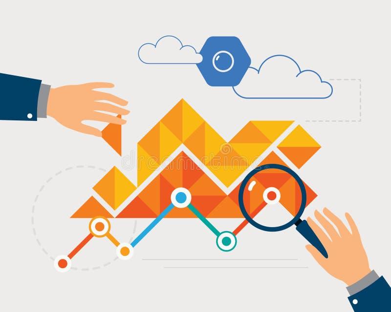 Data Analysis royalty free illustration