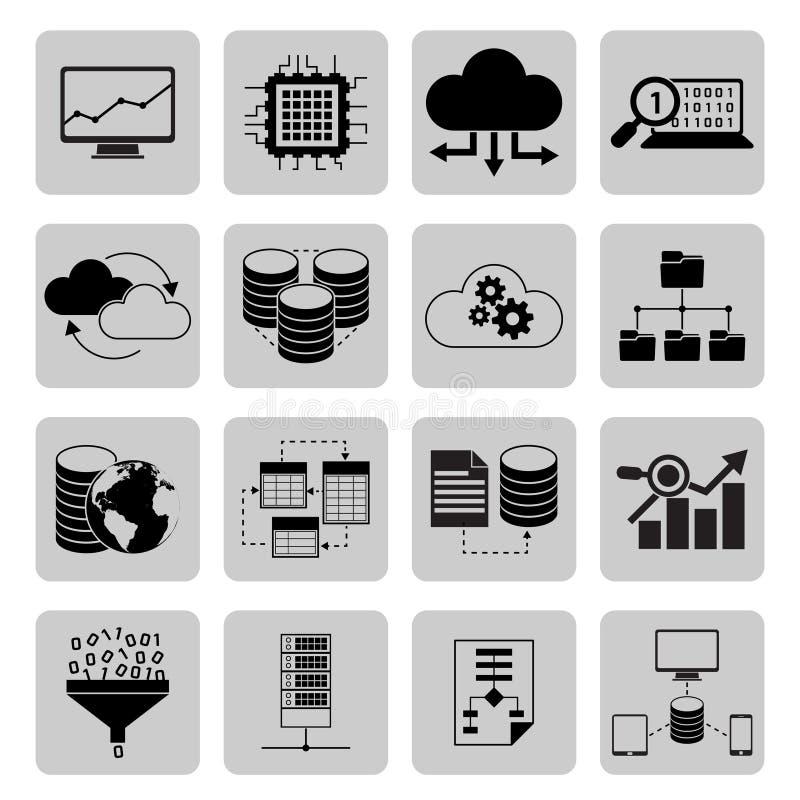 Data analysis icons stock illustration