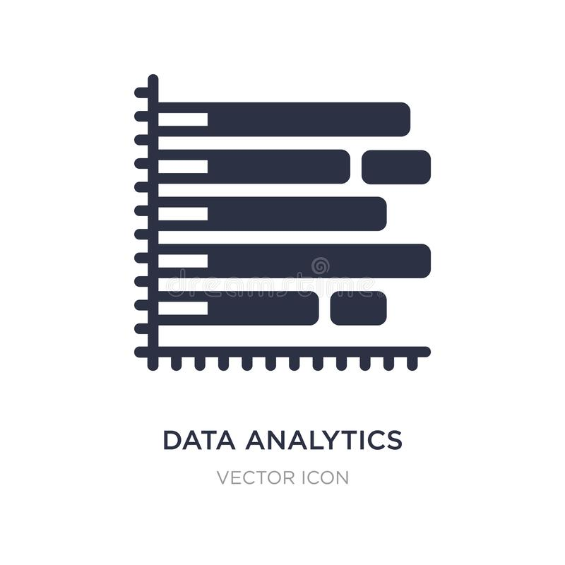 data analytics bars chart with descendant line icon on white background. Simple element illustration from Business concept vector illustration