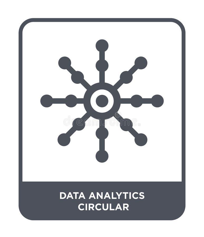 data analytics circular icon in trendy design style. data analytics circular icon isolated on white background. data analytics stock illustration