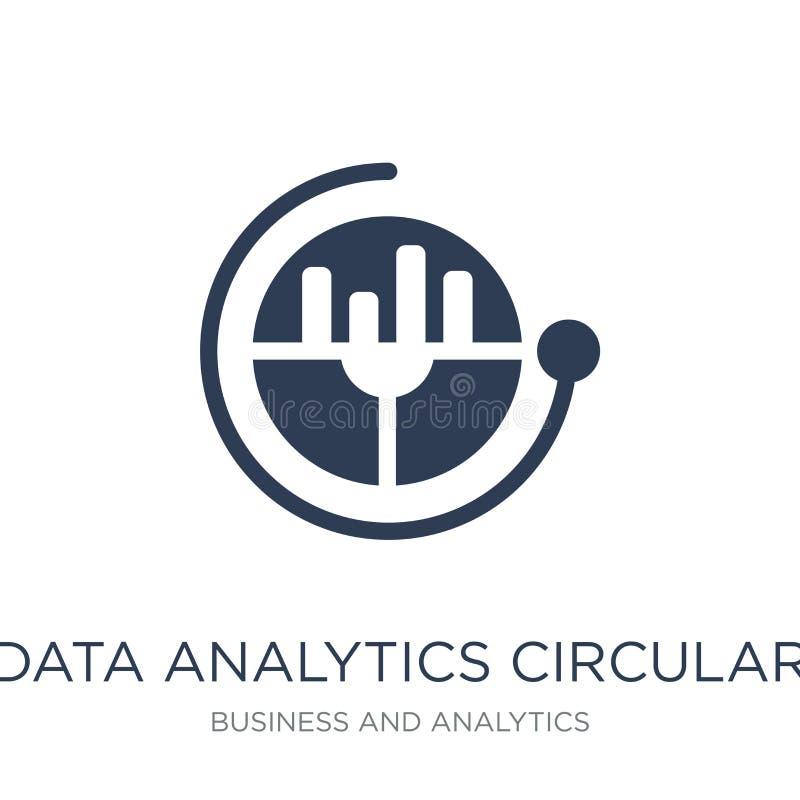 Data analytics circular icon. Trendy flat vector Data analytics royalty free illustration