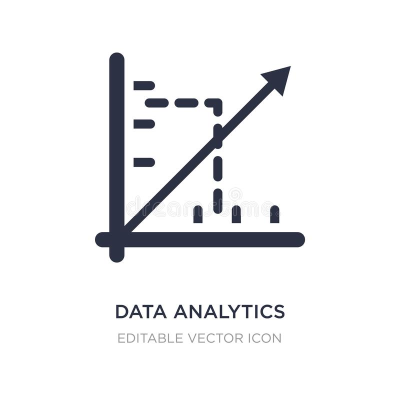 data analytics line graphic icon on white background. Simple element illustration from Seo and web concept stock illustration