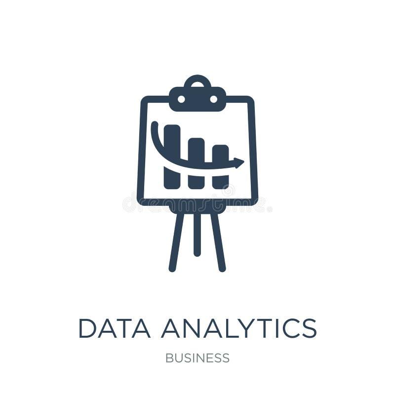 data analytics presentation screen icon in trendy design style. data analytics presentation screen icon isolated on white stock illustration