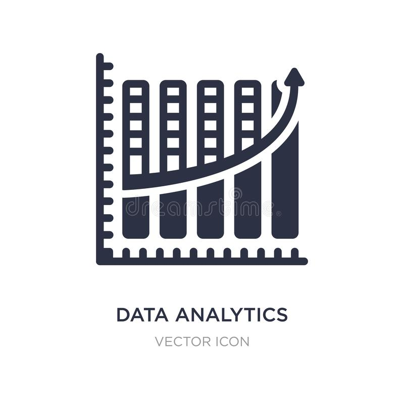 data analytics upgoing bars chart icon on white background. Simple element illustration from Business concept vector illustration
