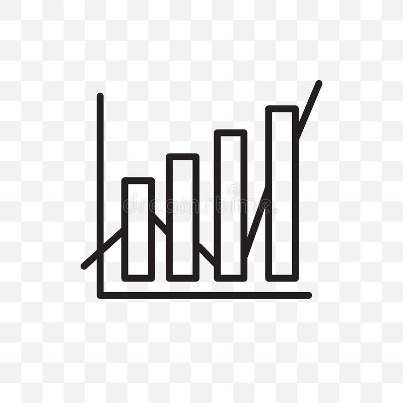 Data analytics vector linear icon isolated on transparent background, Data analytics transparency concept can be used for web and stock illustration