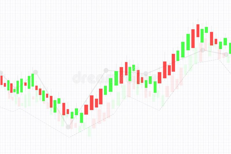Data analyzing Business candle stick chart of Display stock market investment trading , Business analyzing financial statistics royalty free stock image