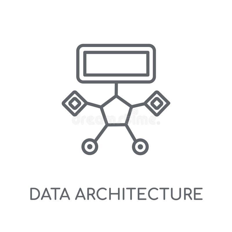 Data architecture linear icon. Modern outline Data architecture stock illustration