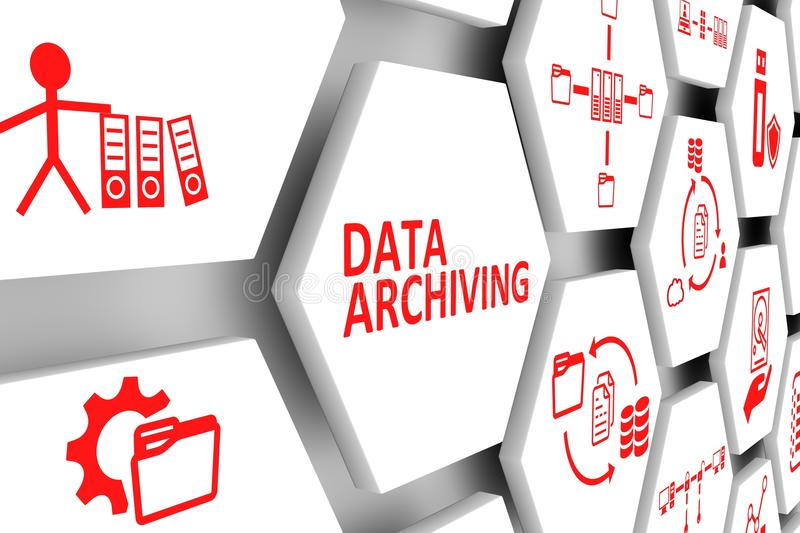 DATA ARCHIVING concept royalty free illustration