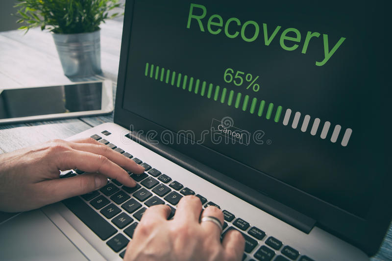 Data backup restoration recovery restore browsing plan network stock images