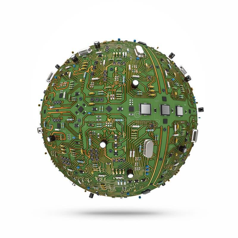 Download Data ball stock illustration. Image of programming, motherboard - 36983523
