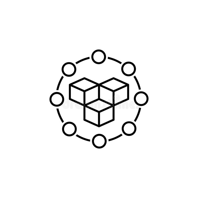 data, blockchain icon. Element of technological data icon for mobile concept and web apps. Thin line data, blockchain icon can be vector illustration