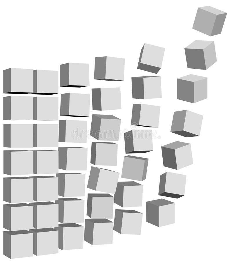 Download Data Boxes Cartons Fly & Fall Up Stock Vector - Image: 3954510