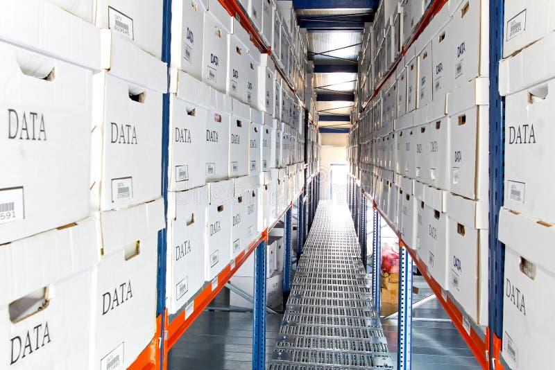 Data boxes rows stock photos