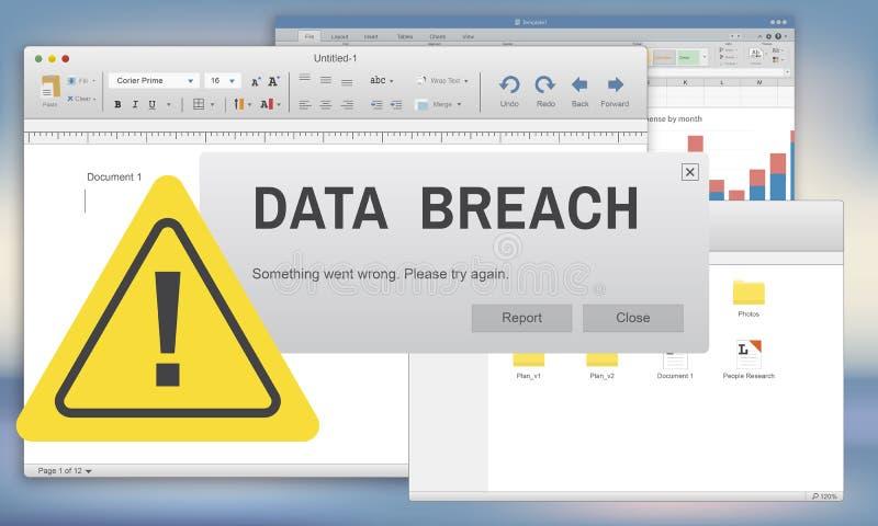 Data Breach Security Confidential Cybercrime Concept vector illustration