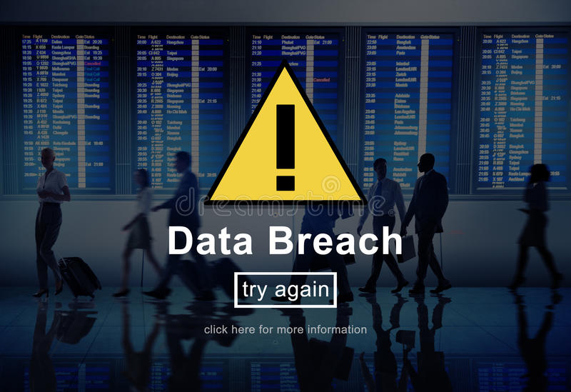 Data Breach Warning Sign Concept.  royalty free stock photos