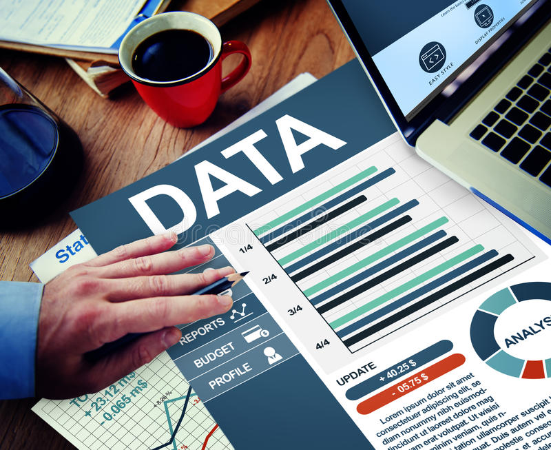 Data Businessman Working Calculating Thinking Planning Concept stock photos