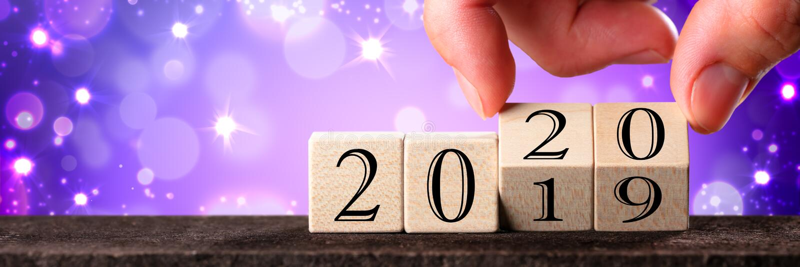 Data cambiante della mano dal 2019 al 2020