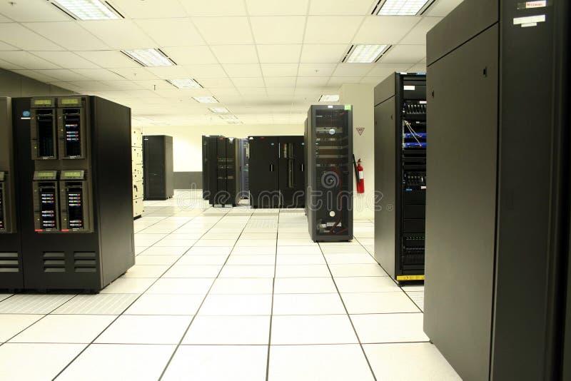 Data Center. Shot of network and server racks in the data center