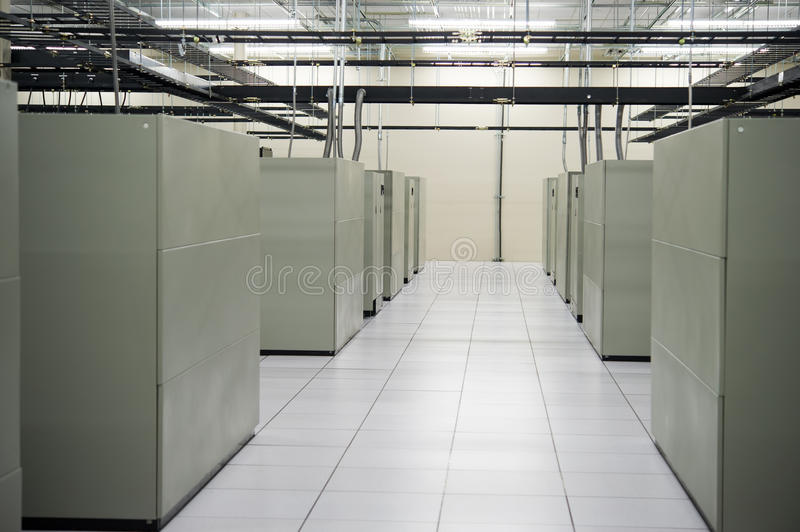 Data Center. Image of the interior of a data storage facility royalty free stock photo