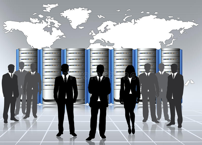 Data center admin stock illustration