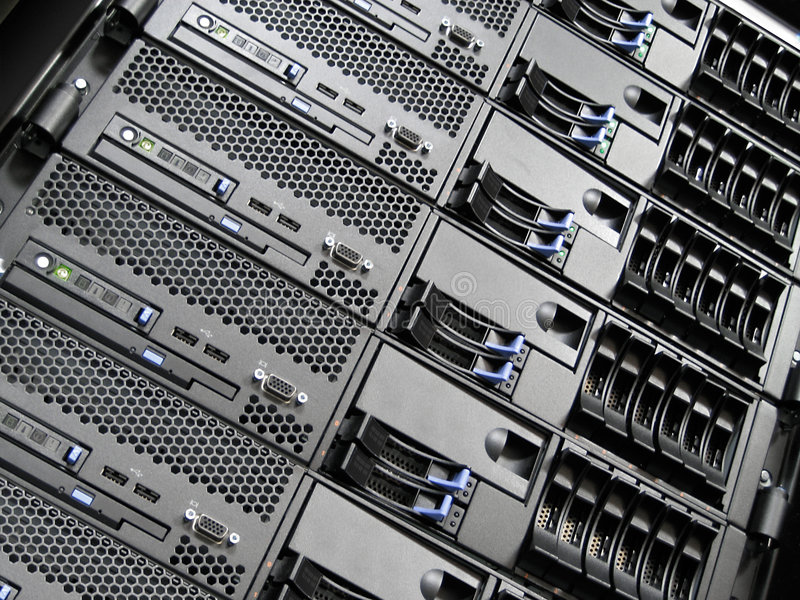 Data Center Computer Servers royalty free stock photos