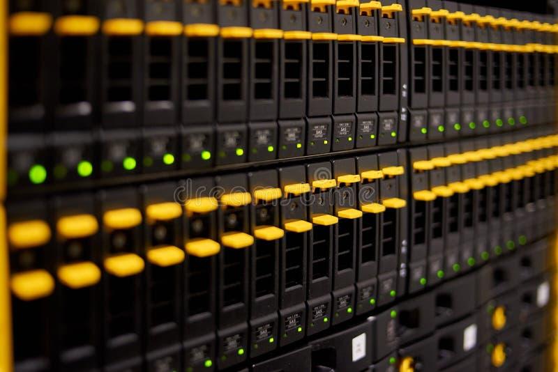 data center highspeed server storage stock photo