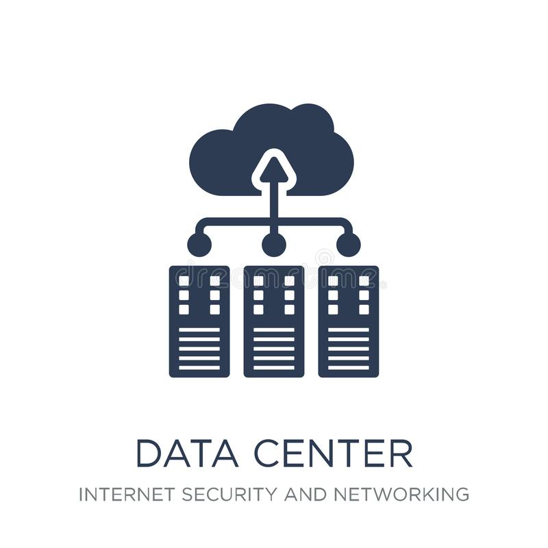 Data center icon. Trendy flat vector Data center icon on white b. Ackground from Internet Security and Networking collection, vector illustration can be use for vector illustration
