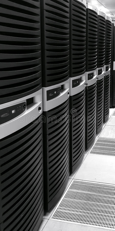 Data Center. Image of Data Center cabinets royalty free stock images