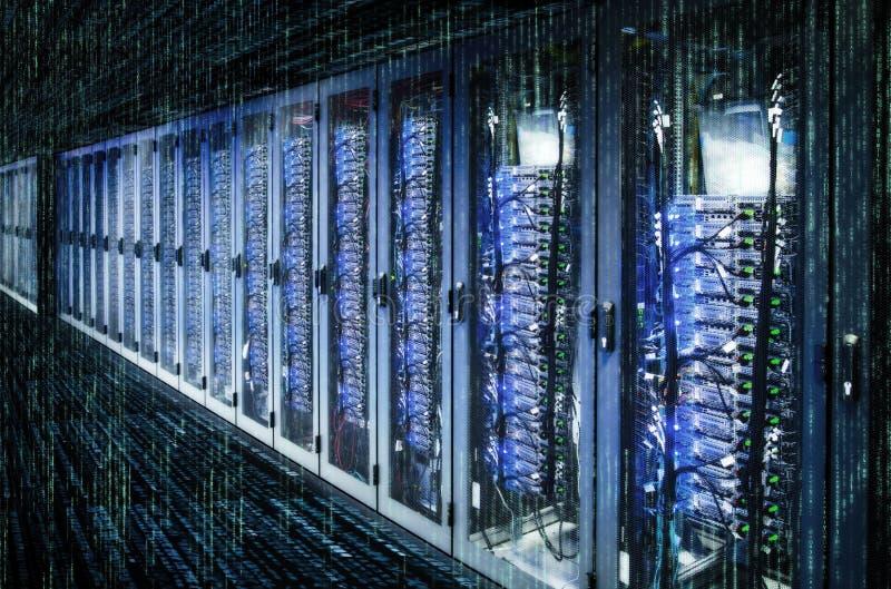 Data center and matrix stock photo