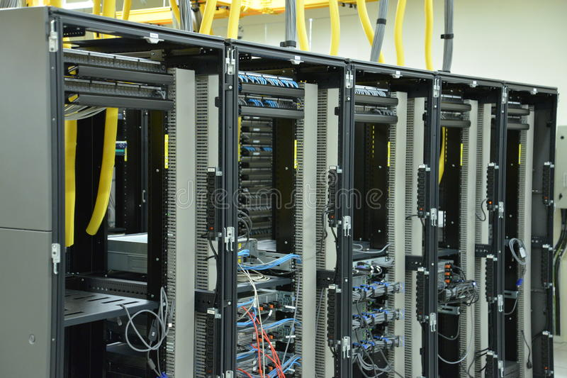 Data Center Rack And Stacks Royalty Free Stock Images