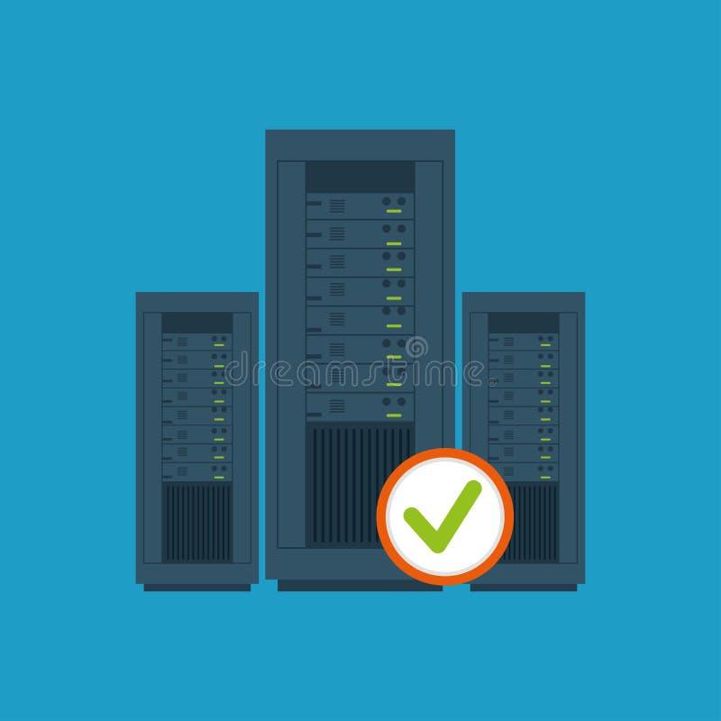 data center server hardware computer system check royalty free illustration